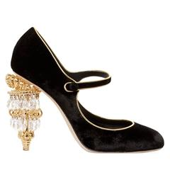Dolce & Gabbana NEW & SOLD OUT Runway Black Heels in Box