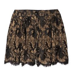 Stunning Emilio Pucci Black & Nude Lace Shorts