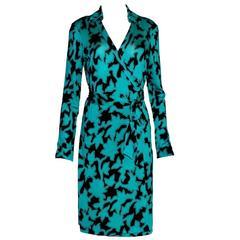 DVF Diane von Furstenberg Wrap Dress Vintage Print Reissue