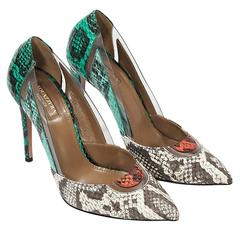 Multicolor Aquazzura Snakeskin Pumps