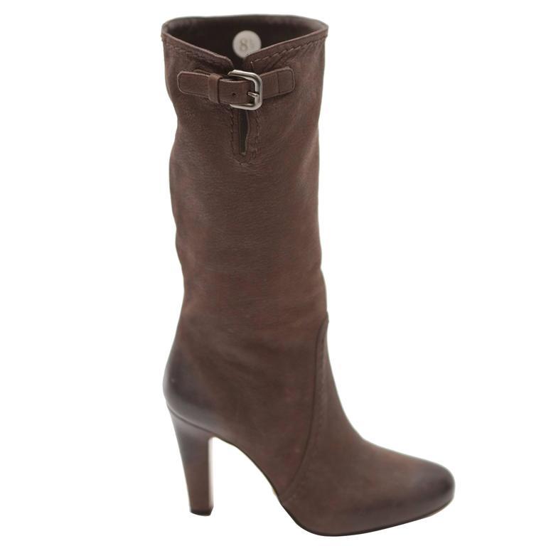 Prada Mid-calf Brown Leather Boots 1