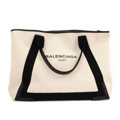 Balenciaga White x Black Canvas Tote Bag Pouch