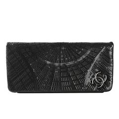 Chanel Black Sequinned Clutch
