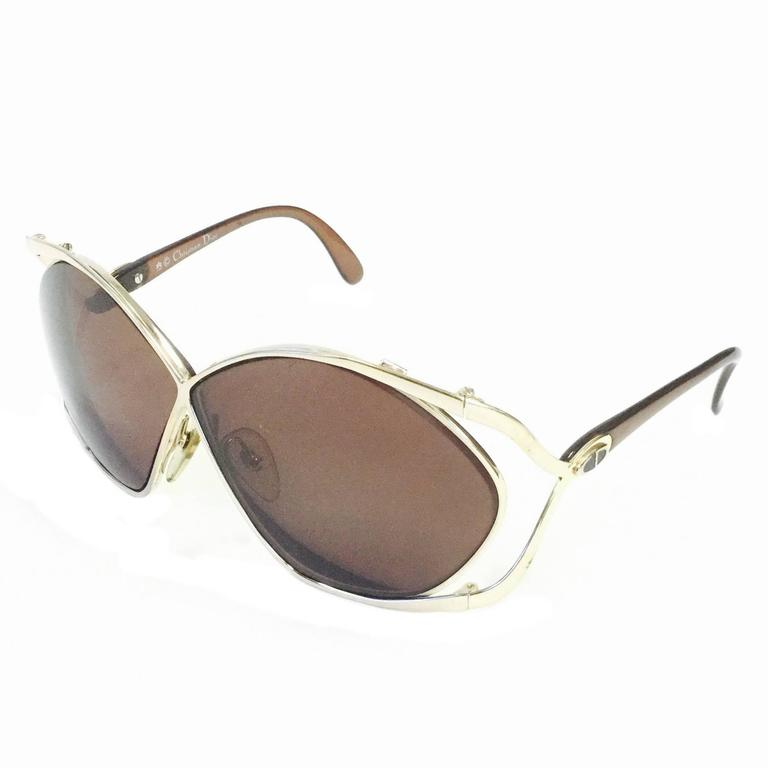 Christian Dior Butterfly Sunglasses Model 2056, 1980s  For Sale