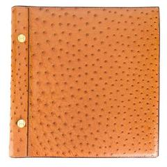 Hermes rarity gold ostrich leather album 90s
