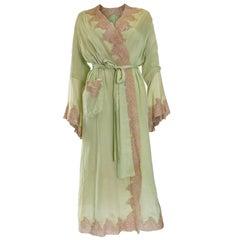 1950s Fine Silk Dressing Gown