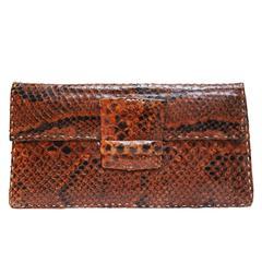 1940s Snake Skin Clutch Bag