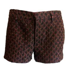 Missoni Lurex Crochet Knit Shorts Hot Pants