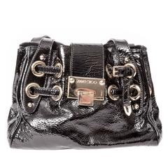 Jimmy Choo Black Patent Bag with Silver Hardware