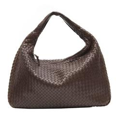 Bottega Veneta Medium Brown Intrecciato Leather Handbag