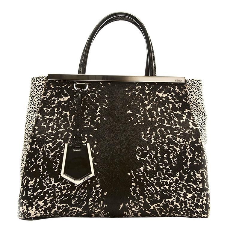 Fendi Speckled Calf Hair 2Jours Bag For Sale at 1stdibs 8094b53218df0
