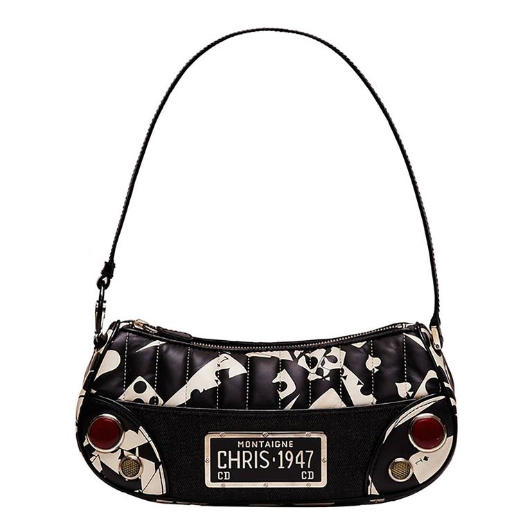 Christian Dior Denim and Leather Bag For Sale