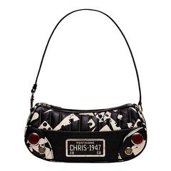 Christian Dior Denim and Leather Bag
