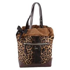 Christian Louboutin Pola Tote Printed Pony Hair with Leather and Suede