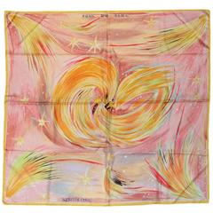 Hermes Pastel Feux du Ciel Silk Scarf 90 cm