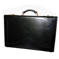 Ghurka Black Calf Leather Marley Hodgson Tremont No. 82 Briefcase, 1986