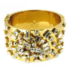 Kate Spade New York Glass Stone Encrusted Cuff