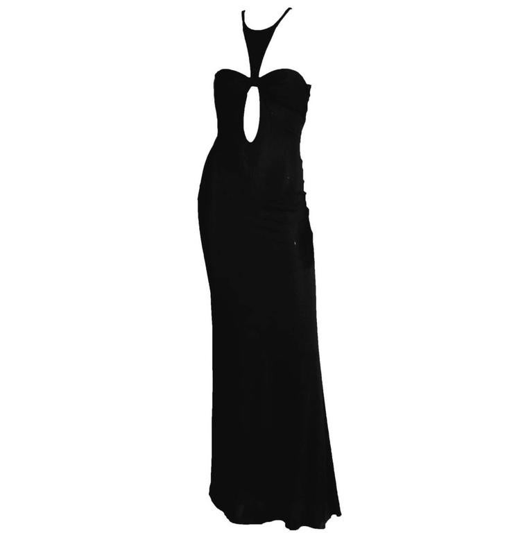 Robin Wright Penn's Heavenly Tom Ford Gucci FW 2004 Collection Black Gown! IT 46 1
