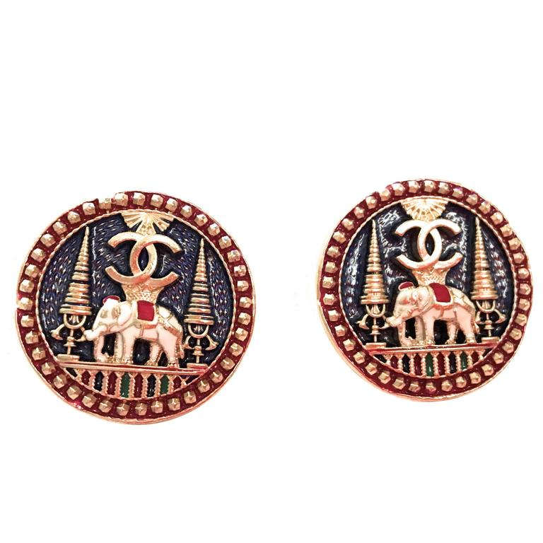 Pair of Beautiful Chanel Buttons 1