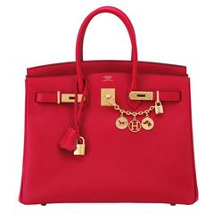 Hermes Birkin 35cm Rouge Casaque Red Epsom Gold Hardware C Stamp, 2018