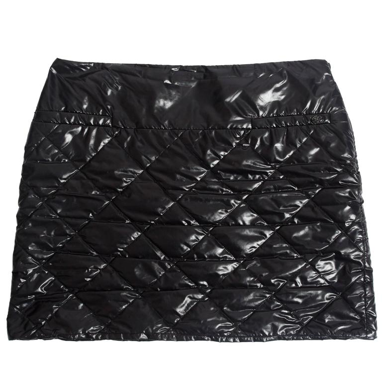 Chanel quilted nylon mini skirt, circa 2006 For Sale