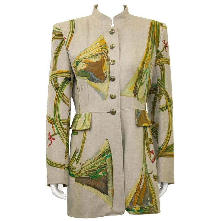 1980s Hermes Trompes de Chasse Wool & Cashmere Jacket 1