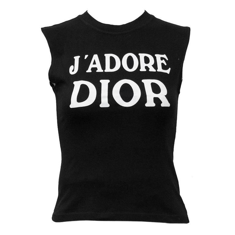 1990's Iconic Christian Dior 'J'ADORE DIOR' Muscle T For Sale