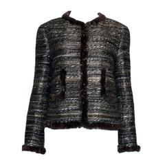 Superbe Chanel Maison Lesage Fantasy Tweed & Fur Jacket