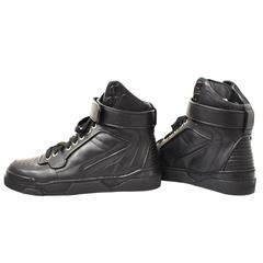 Givenchy Black Leather High Top Trainers Brand New with Dust Bag and Box