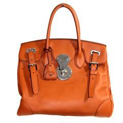 Ralph Lauren Calfskin Ricky 33 Rl Gold  Bag New with tags