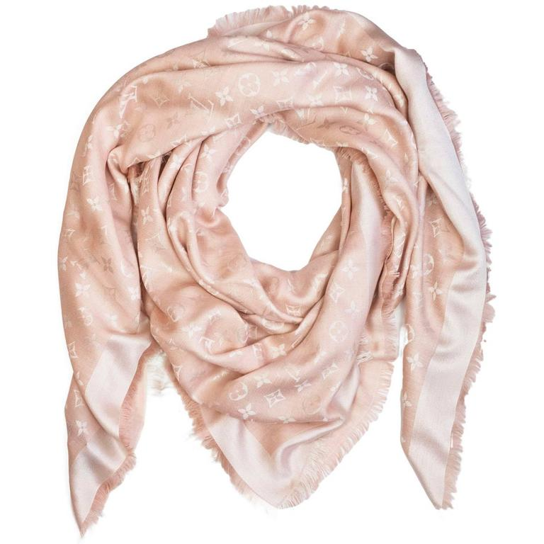 Louis Vuitton Pink Monogram Shine Shawl Scarf For Sale at 1stdibs e440e936450