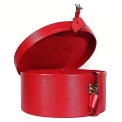 Louis Vuitton Red Epi Boite Chapeaux Hat Box 40 Rare