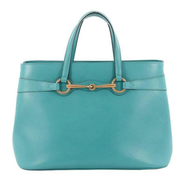 e3553b485e5 Gucci Bright Bit Convertible Tote Leather Medium at 1stdibs