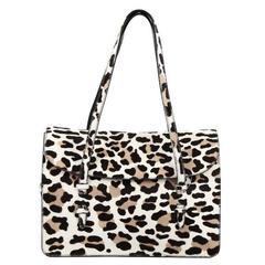 Alaia Flap Tote Bag Calf Hair Medium