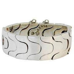 Antonio Pineda Sterling Silver Modernist Puzzle Bracelet