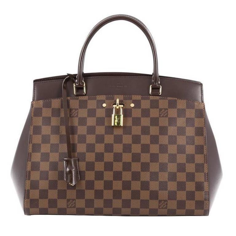 louis vuitton rivoli handbag damier mm at 1stdibs