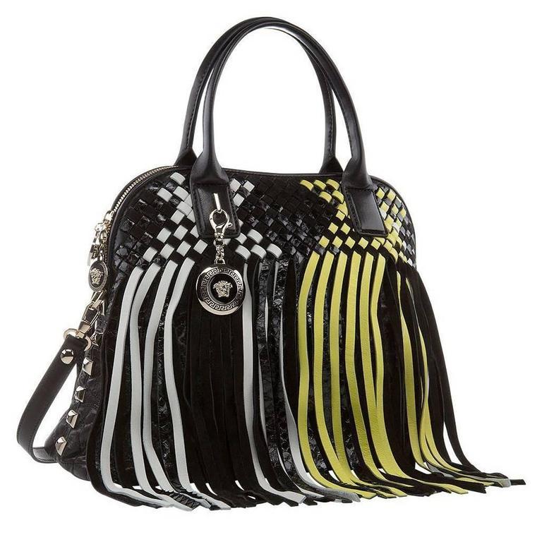 8b9ddc01da5 VERSACE LARGE FRINGED VANITAS HANDBAG SHOULDER BAG New w/ Tags For Sale