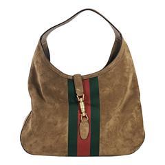 Tan Gucci Suede Hobo Bag