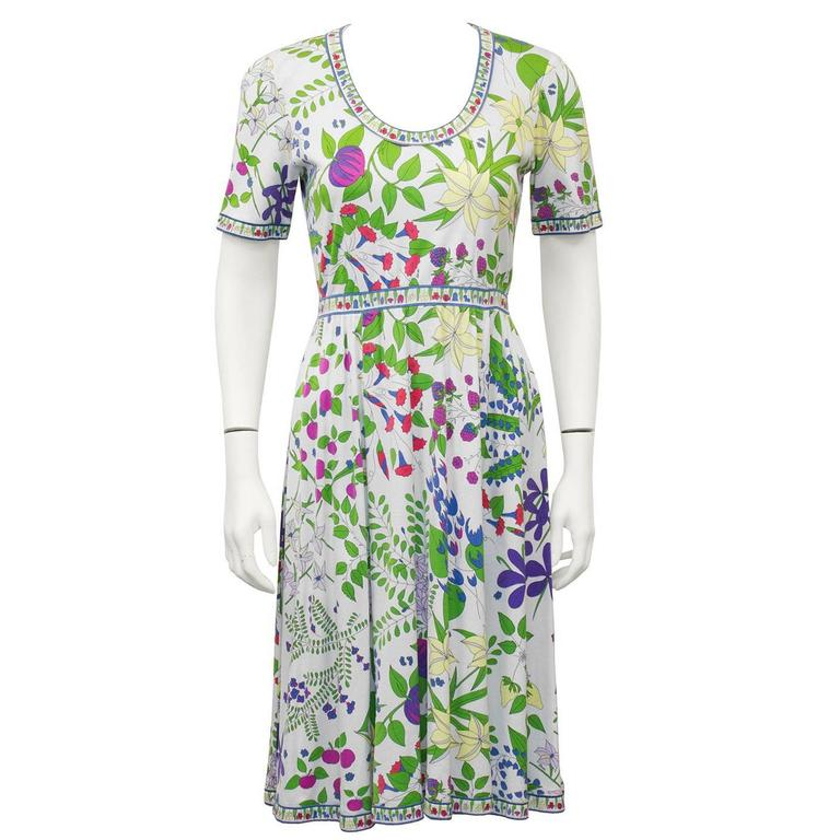 1970's Floral Bessi Day Dress
