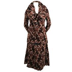 2001 COMME DES GARCONS floral velvet corset skirt suit