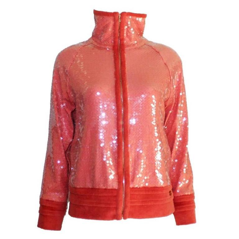 Chanel Coral Sequin Jacket