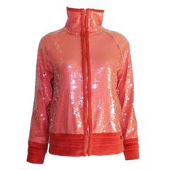 Chanel Coral Sequin Jacket