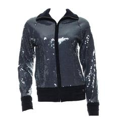 Amazing Chanel Midnight Blue Sequin Jacket
