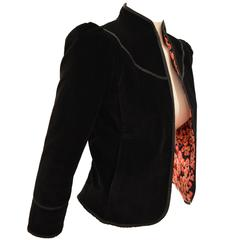 Rare1980s Diane Von Furstenberg Reversible Lipsticks Motif Night Jacket