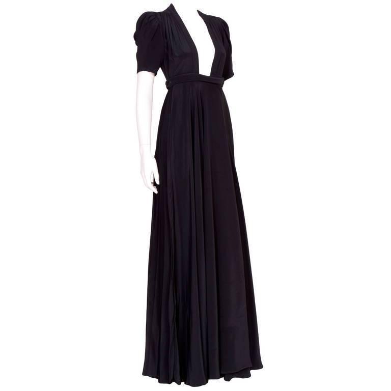 Vintage OSSIE CLARK for QUORUM Black Wrap Dress 1