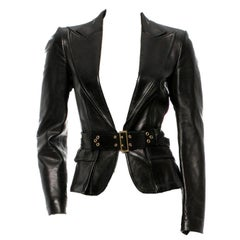 Gucci by Tom Ford Corset Belt Leather Jacket, F / W 2003