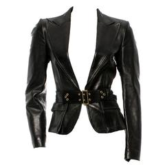 Sunny's  Famous Gucci by Tom Ford FW 2003 Corset Belt Leather Jacket