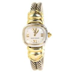 David Yurman Sterling & 14k Double Cable Watch