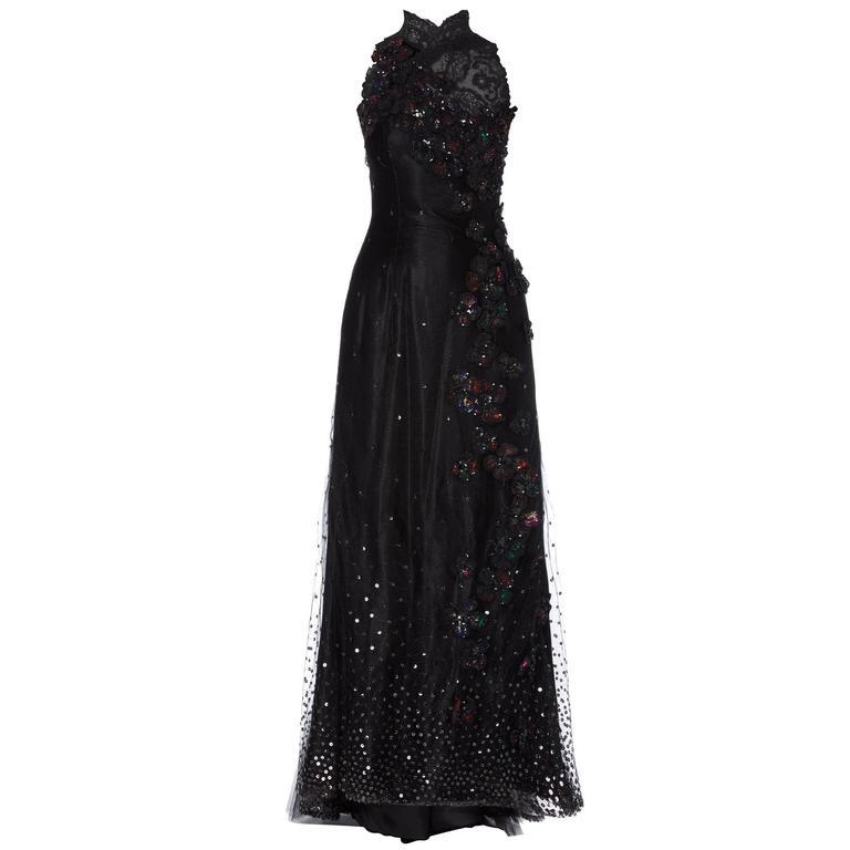 Christian Lacroix haute couture black gown, Autumn/Winter 1995