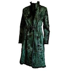 That Absolutely Gorgeous Tom Ford Gucci FW 1999 Reversible Black/Green Fur Coat!